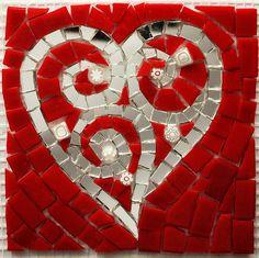 mosaic heart by Lori Desormeaux