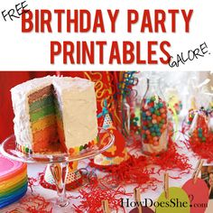 Free Birthday Party Printables GALORE
