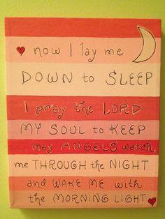 Perfect child's prayer.