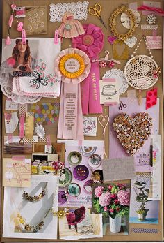 pink themed inspiration board
