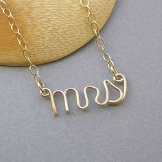 mrs necklace  14K gold fill by PianoBenchDesigns on Etsy, $43.00  PERFECT wedding gift for the bride