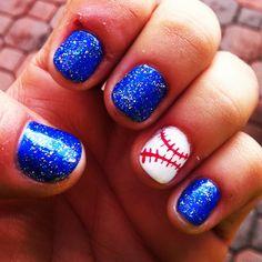 Baseball nails! Go rangers!