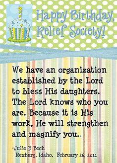 I love Relief Society