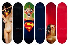 George Condo x Supreme Skateboard Decks