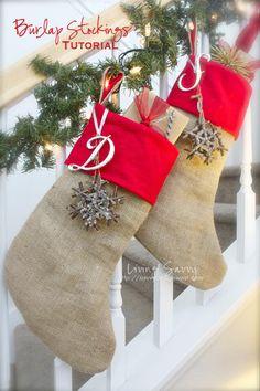 Living Savvy: How To... Burlap Stockings
