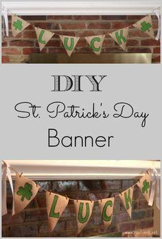 DIY St. Patrick's Day Banner #StPatricksDay