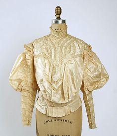 Silk and lace shirtwaist, American, ca. 1895.