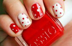 Nail designs for short nails short_nails_red_dots – NailsShine.com polka dots, valentine day, color, white polka, nail designs, christmas nails, nail arts, short nails, polka dot nails