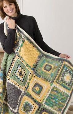 Triple Texture Throw Crochet Pattern