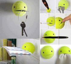 Tennis ball fun.