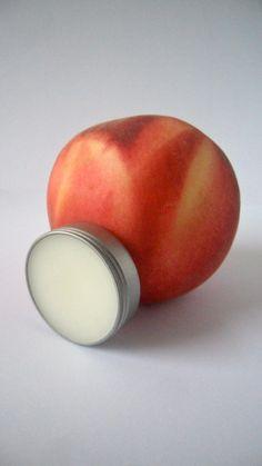 Natural #handmade #Peach Lip Balm, Shea Butter, #Beeswax