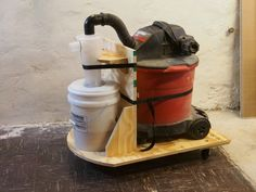 ShopVac cart with cyclone dust separator