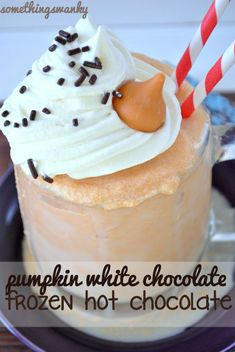 white chocolate pumpkin frozen hot chocolate