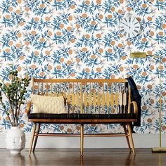 The anticipated Rifle Paper Co. x Hygge & West wallpaper collab has finally arrived! | Lonny