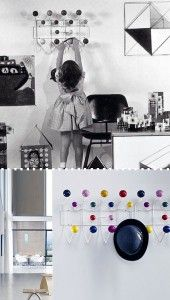 The Hang It All Coat Rack - 1953   Fun of color and functionality for children's rooms!