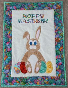 Hoppy Easter quilted wall hanging