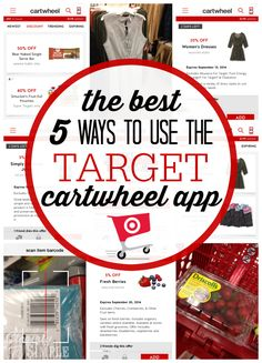 To you like to shop at Target?  The Target carthweel app is a great way to save money.  Here's my five favorite ways to use the free app.
