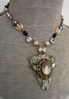 'dinner at downton' necklace by The French Circus on Etsy