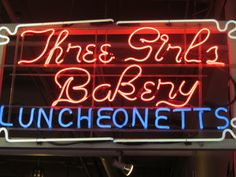 Three Girls Bakery sign from Seattle Pike Place Market