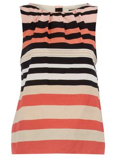 coral stripe top!