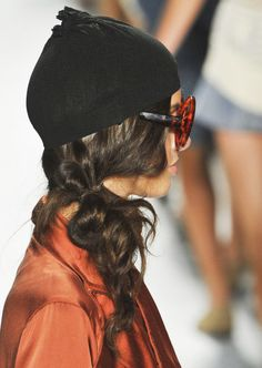 Messy Side Bun Hair Style Trend for Spring Summer 2013.  Nicholas K Spring Summer 2013.     #hair  #trends