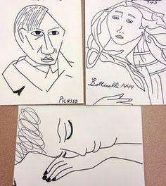 Picasso Contour Line Drawing