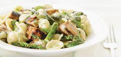 Pâtes aux saucisses et aux légumes verts grillés Recettes | Ricardo