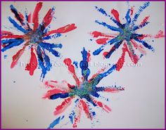 4th of July fireworks painting craft for kids