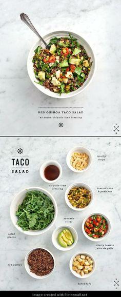 How-to make a red quinoa taco salad.