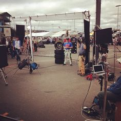 """Photo by @hendrick88team on Instagram: """"#DaleJr shooting a commercial for #GoodyearGives to support our military."""""""