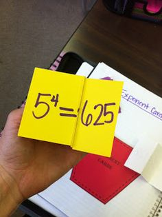 The Teacher Who Hated Math: Powers and Exponents ideas for interactive math notebooks