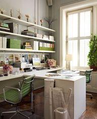 Organized interior design, office spaces, desk space, design homes, office designs, green office, home offices, workspac, craft rooms