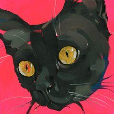 """""""Black Pussy"""" Jonny Ruzzo New York, NY  #cat #cats #catart #kitten #kitty #kitties #art #illustration #drawing #pussycat"""