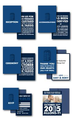 Doctor Who wedding invitations. Hahahahahaha no.