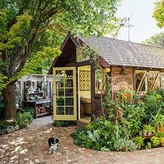 garden design, potting sheds, potting tables, garden cottage, recycled windows, gardens, hous, backyard retreat, outdoor sheds