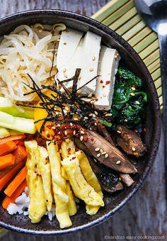 Easy Recipe for Korean Bibimbap Mixed Rice Bowl @SECooking | Sandra | Sandra | Sandra | Sandra