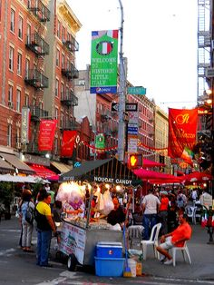 the magical little Italy on a saturday nite, NYC