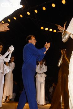 Thierry Mugler & models final show, 1986.