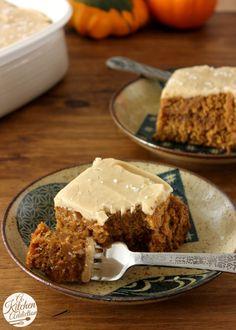 Salted Caramel Pumpkin Cake Recipe #pumpkin #fall #recipe #cake #saltedcaramel