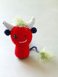 Horned Monster- Free Pattern (click Instructions)