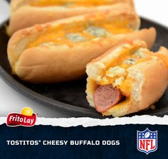 You can't watch football without chowing down on a Cheesy Buffalo Dog. Be sure to make plenty for your guests—they'll go quick! Enter our Fire Up for Football Sweeps for a chance to win a trip to the 2014 Pro Bowl in Hawaii http://contests.piqora.com/fritolay #FritoLayGameDay.  Official sweepstakes rules here: http://contests.piqora.com/contests/contest/content/fritolay.com/376/rules