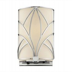 """The Walt Disney Signature Collection      Chrome Finish      Etched White Glass with Macassar Ebony accents      Art Deco Styling    Specifications:        9.5"""" high x 6"""" wide x 4"""" projection from the wall      Takes (1) 100-watt (max.)"""