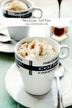 Mexican Coffee | www.diethood.com | Delicious and warm Mexican Coffee made with a splash of tequila coffee liqueur, and vanilla ice cream. | #recipe #coffee #cincodemayo
