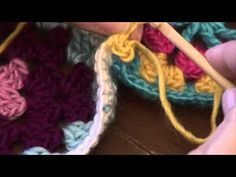 Crochet 101 Lacy Join Seams. {Good joining technique to utilize in freeform crochet when joining squares or motifs that are not the same size or shape.}