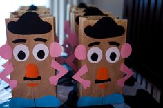 Mr. Potato Head craft; can attach features with velcro and keep extras inside