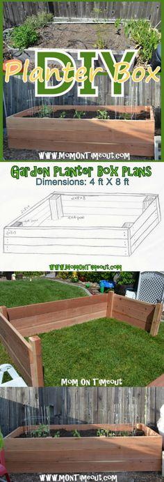DIY Garden Planter Box Tutorial | MomOnTimeout.com