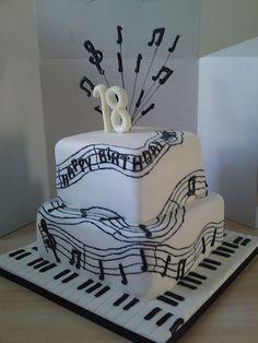 cupcak, musical cakes, birthday party 18th, music note cake, happy birthdays, music cakes, cake decorations, music birthday cakes, 30th birthday