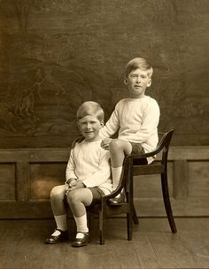 George and Gerald Lascelles, Princess Mary's sons who grew up at Goldsborough Hall throughout the 1920s