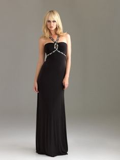 Sheath/Column Halter Sweep Train Chiffon Best-Selling Prom Dress with Ruffles