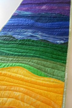 Over the Rainbow Quilt Table Runner. Bed Runner, Wall Hanging -  Custom Order Only - by Sew Fun Quilts